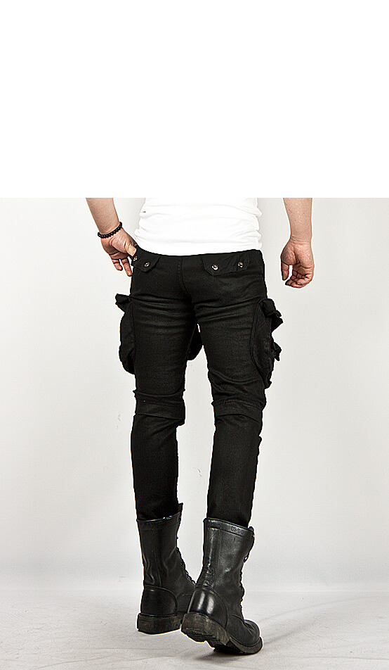 No Easy Answers In Afghanistan >> New Mens Fashion Cool Stylish Tough-chic Wax Coated Oil Cargo Skinny Jeans Pants | eBay