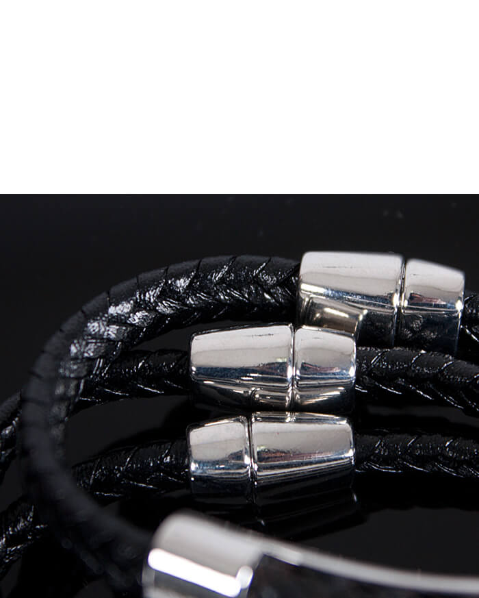 Accessories Braided Leather Bar Accent Bracelet 46 For Only