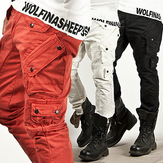 Bottoms - ★SOLD-OUT★ Super-Cool Multi-Cargo Accent Slim Pants ...
