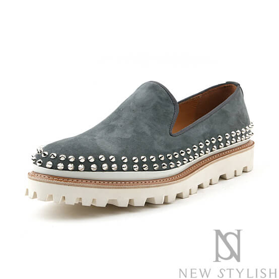 shoes studded suede slip on shoes 323 for only