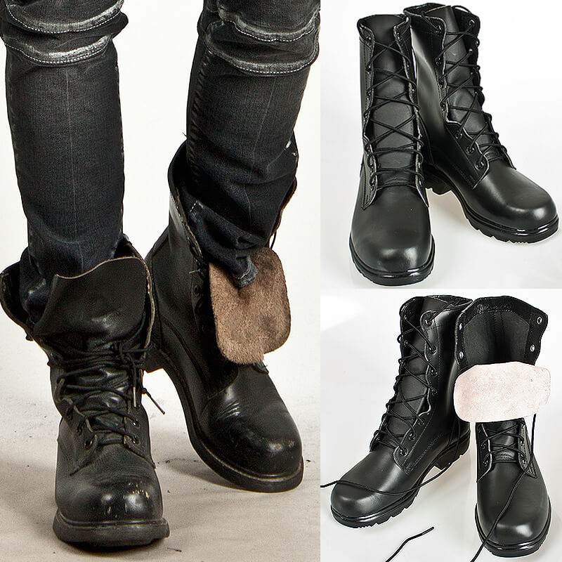 Shoes - HALF-HANDMADE DURABLE BADASS COWHIDE MILITARY BOOTS - 113