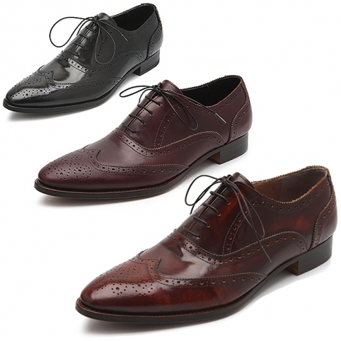 Classic wing tip lace up brogue, shoes - 343