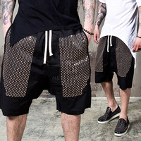 beads black sweat shorts