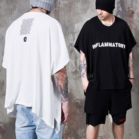 unblanced drape loose t-shirts