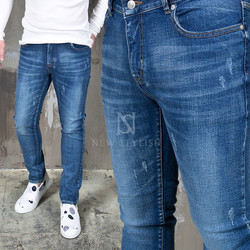 distressed basic denim jeans