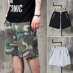 drawcord track sweat shorts