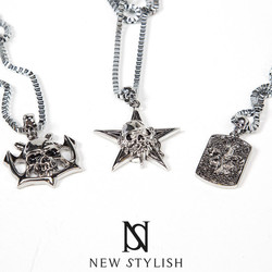 Toxic Star Skull Pendant Metal Necklace