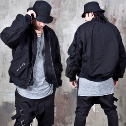 oversized sleeves bomber jacket