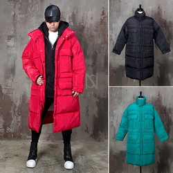 Cozy padded duck down long parka