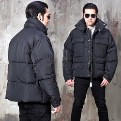 padded duck down short parka