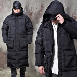 Simple padded duck down hooded parka