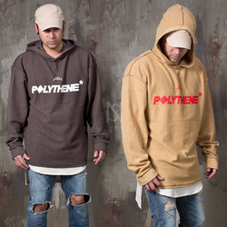 Lettering printed inside-out hoodie