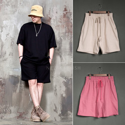Plain loose sweat-shorts - 93