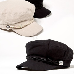 Rope strap cotton marine cap