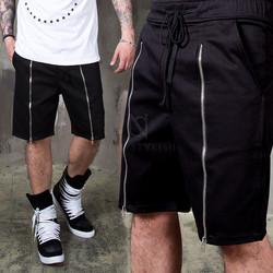 Zipper all the way banding shorts