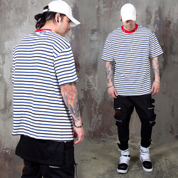 Contrast striped t-shirts - 965