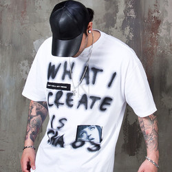 Spray lettering printed t-shirts - 966