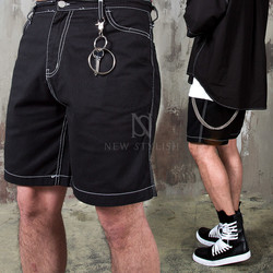 Over stitched key-ring shorts - 100