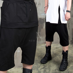 Layered cover baggy shorts