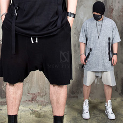 Distressed contrast sweat shorts - 114