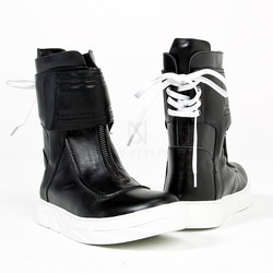 Lace-up back high-top sneaker boots - 459