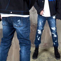Multiple damaged denim slim jeans - 407
