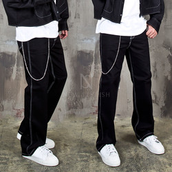 Overstitch chain pants