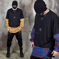 Checkered layered boxy shirts