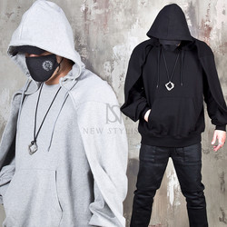 Wing cover layered hoodie