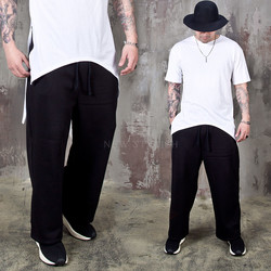 Fleece lined black wide banding pants