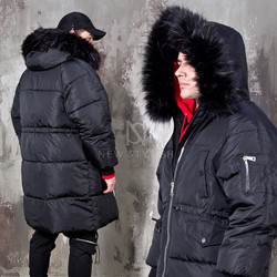 [Special Price] Fur hood padded parka
