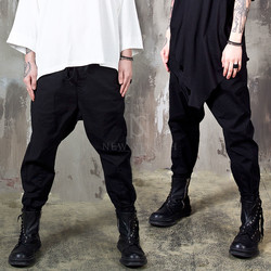 Washed black baggy jogger pants