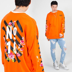 Flower embroidered sweatshirts