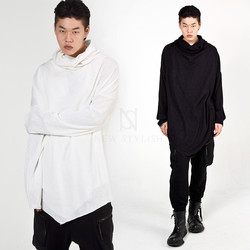 Avant-garde triangle hem turtleneck shirts