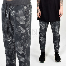 Flower printed sweatpants