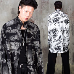 Oriental dragon Mandarin collar long shirts