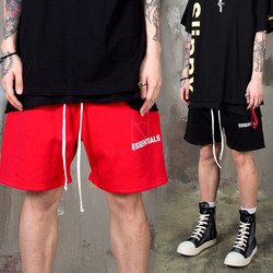 Lettering printed sweat-shorts