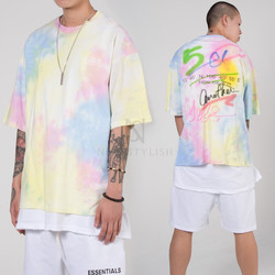 Colorful lettering loose t-shirts