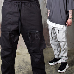 Square pocket banded pants