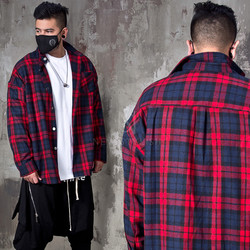 Loose fit checkered shirts
