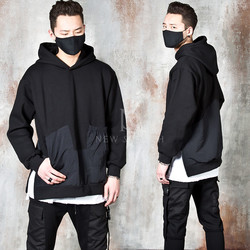 Side zipper opening techwear hoodie