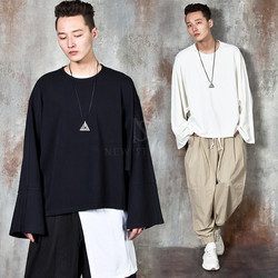 Flare sleeves batwing loose fit t-shirts